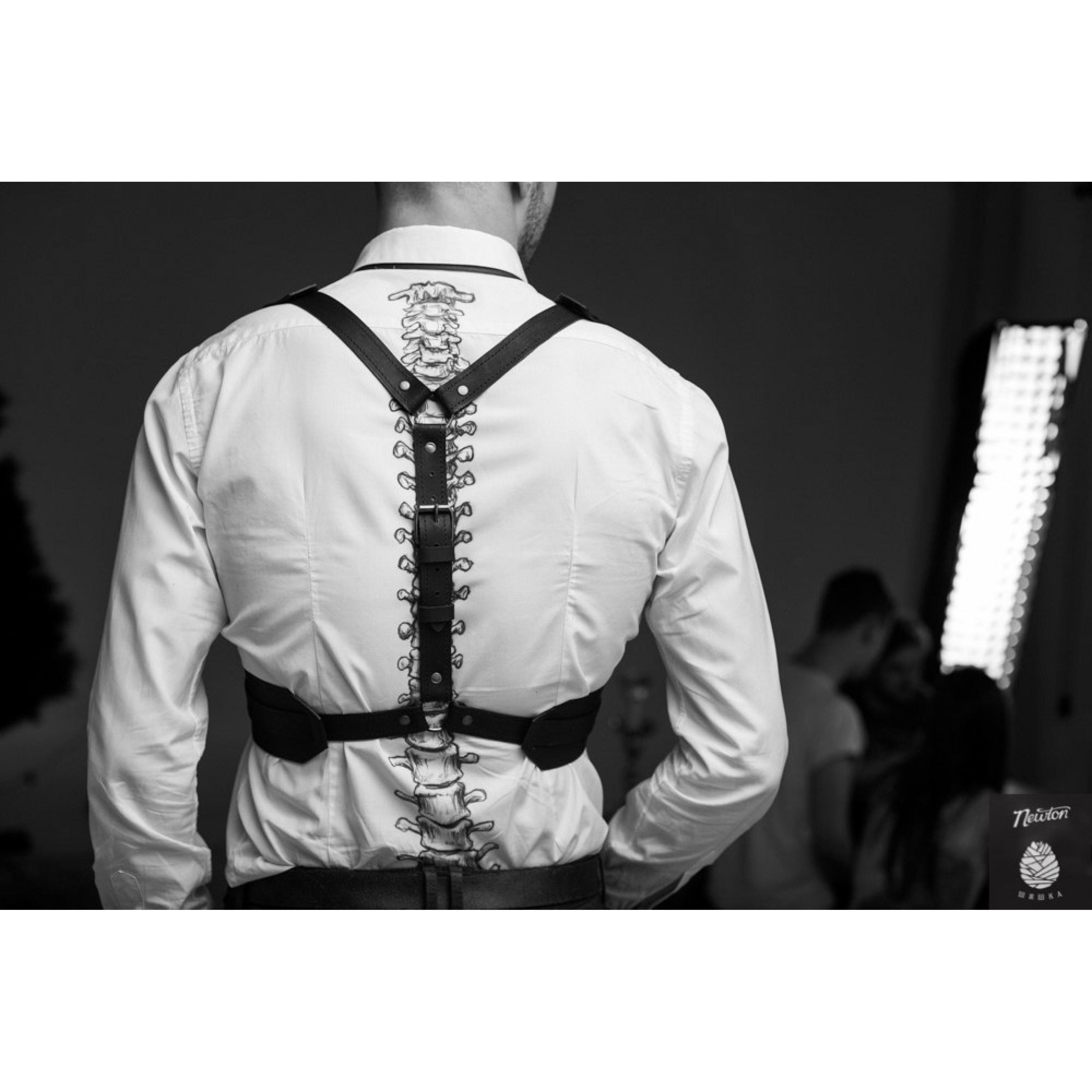 OBLEPIKHA Leather Suspender for man