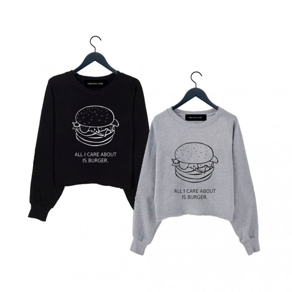 ORIGINAL CORE Burger Crop Sweatshirt