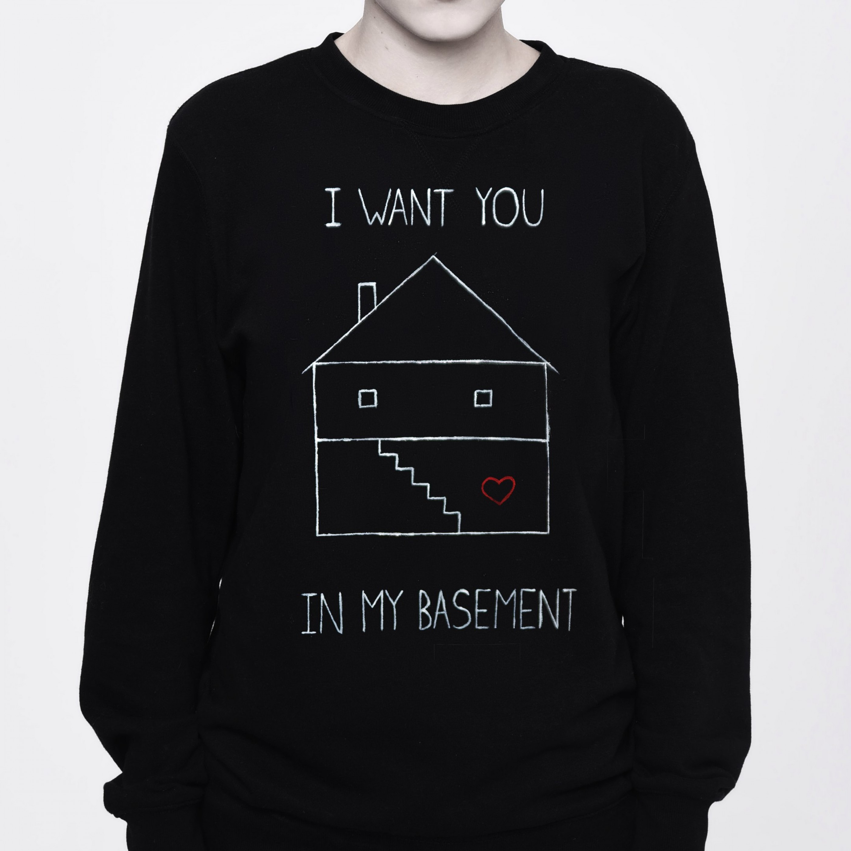 SKULL RELIGION I want you in my basement - Killing Stalking Sweatshirt