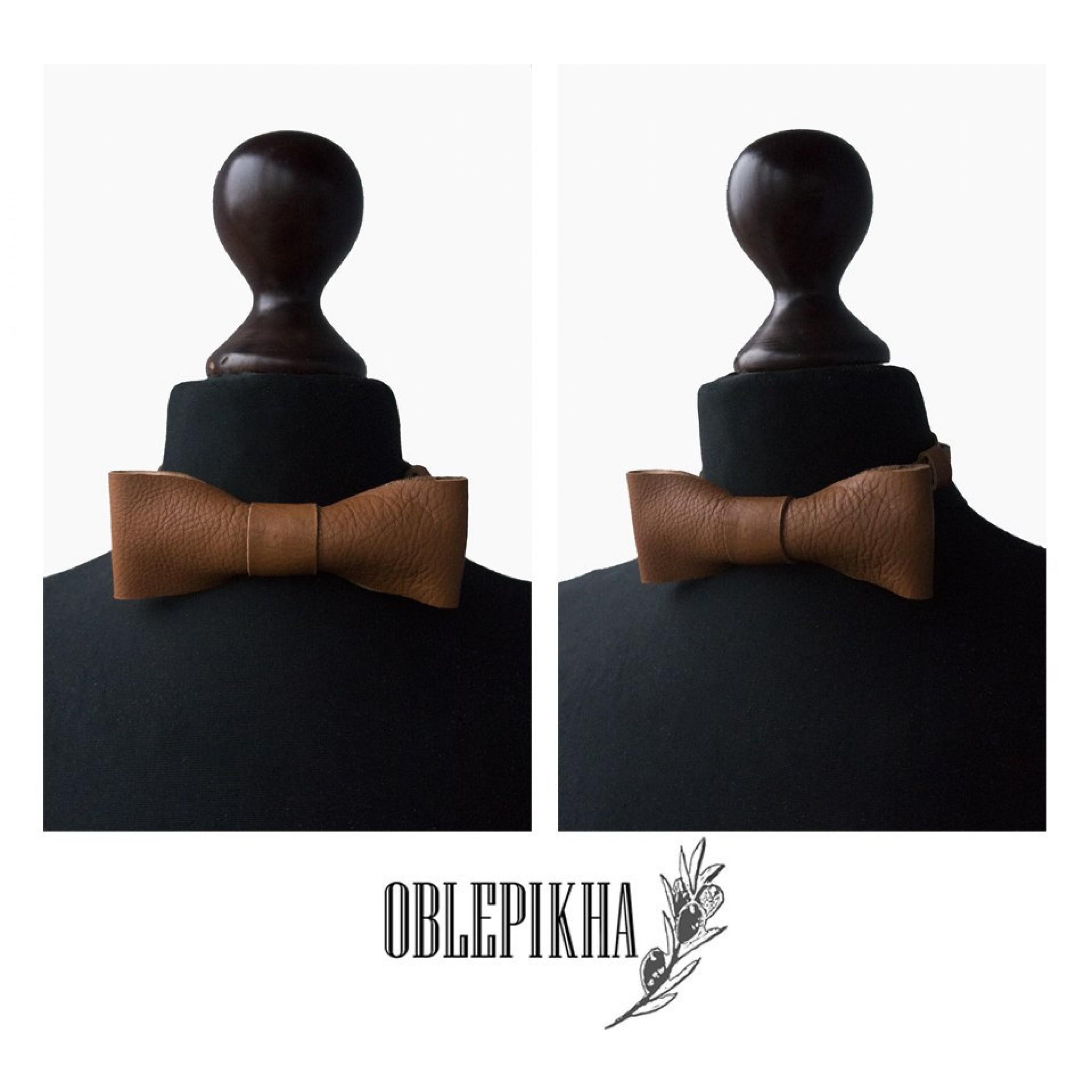 OBLEPIKHA Leather Bowtie