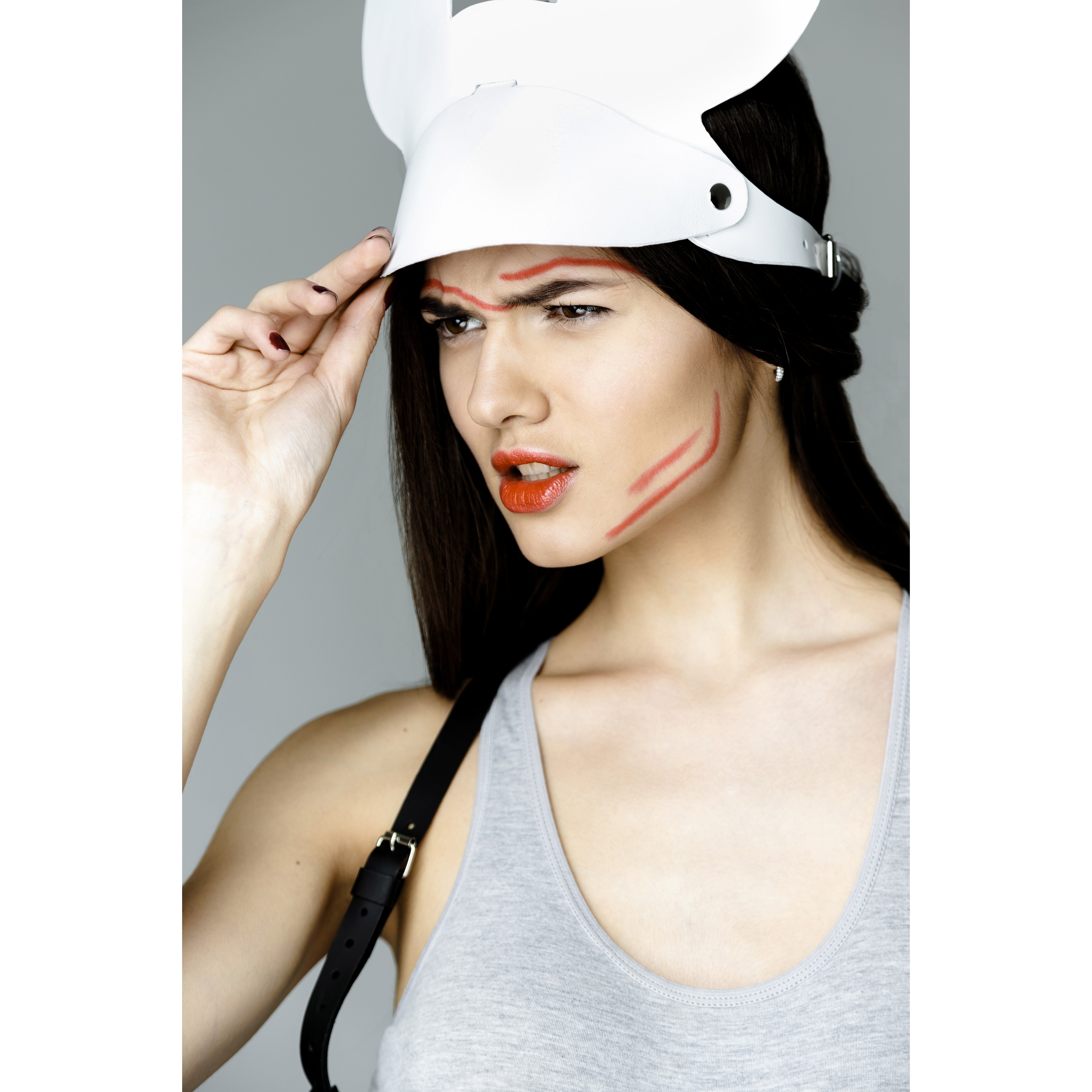 OBLEPIKHA Leather Mickey Tennis Cap